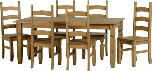 Corona 5' Dining Set with 6 Chairs